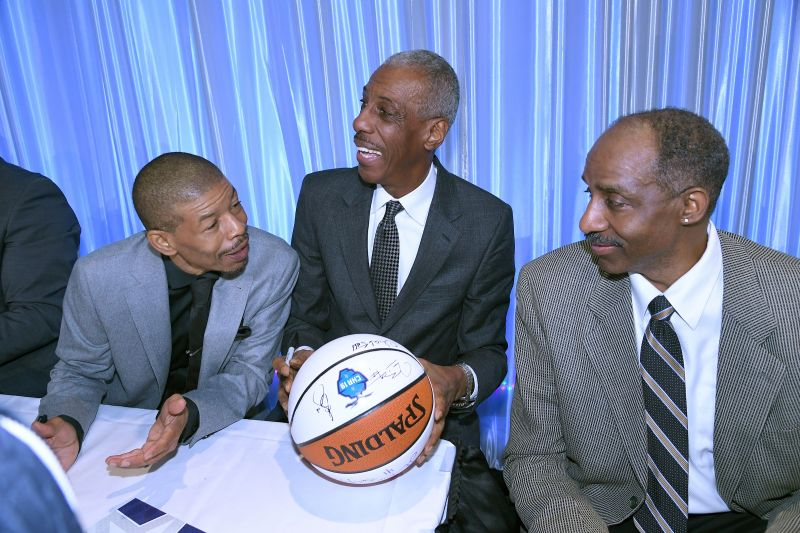 CHARLOTTE, NC - FEBRUARY 17: at the 20th annual NBAS Legends Brunch held by the National Basketball Retired Players Association at the Charlotte convention center on February 17, 2019 in Charlotte, North Carolina. (Photo by John McCoy/Getty Images)