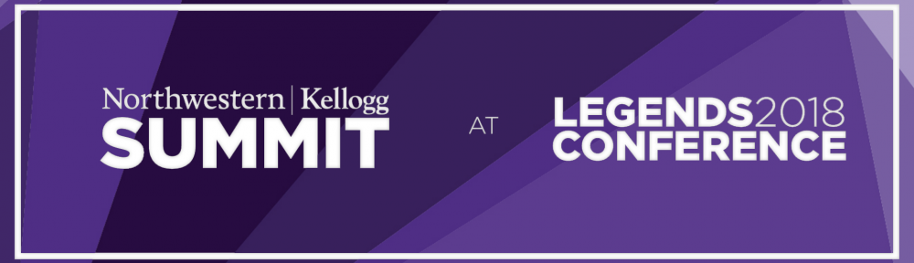 Northwestern University's Kellogg School of Management takes over day two of the 2018 Legends Conference
